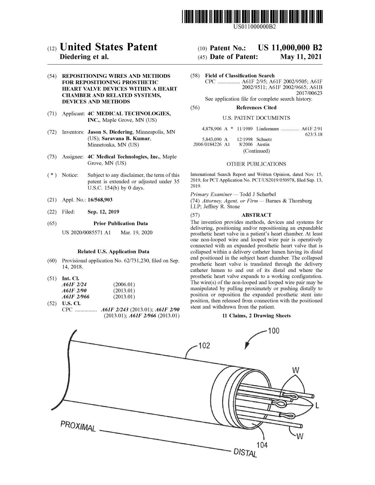 United States Issues Patent Number 11,000,000