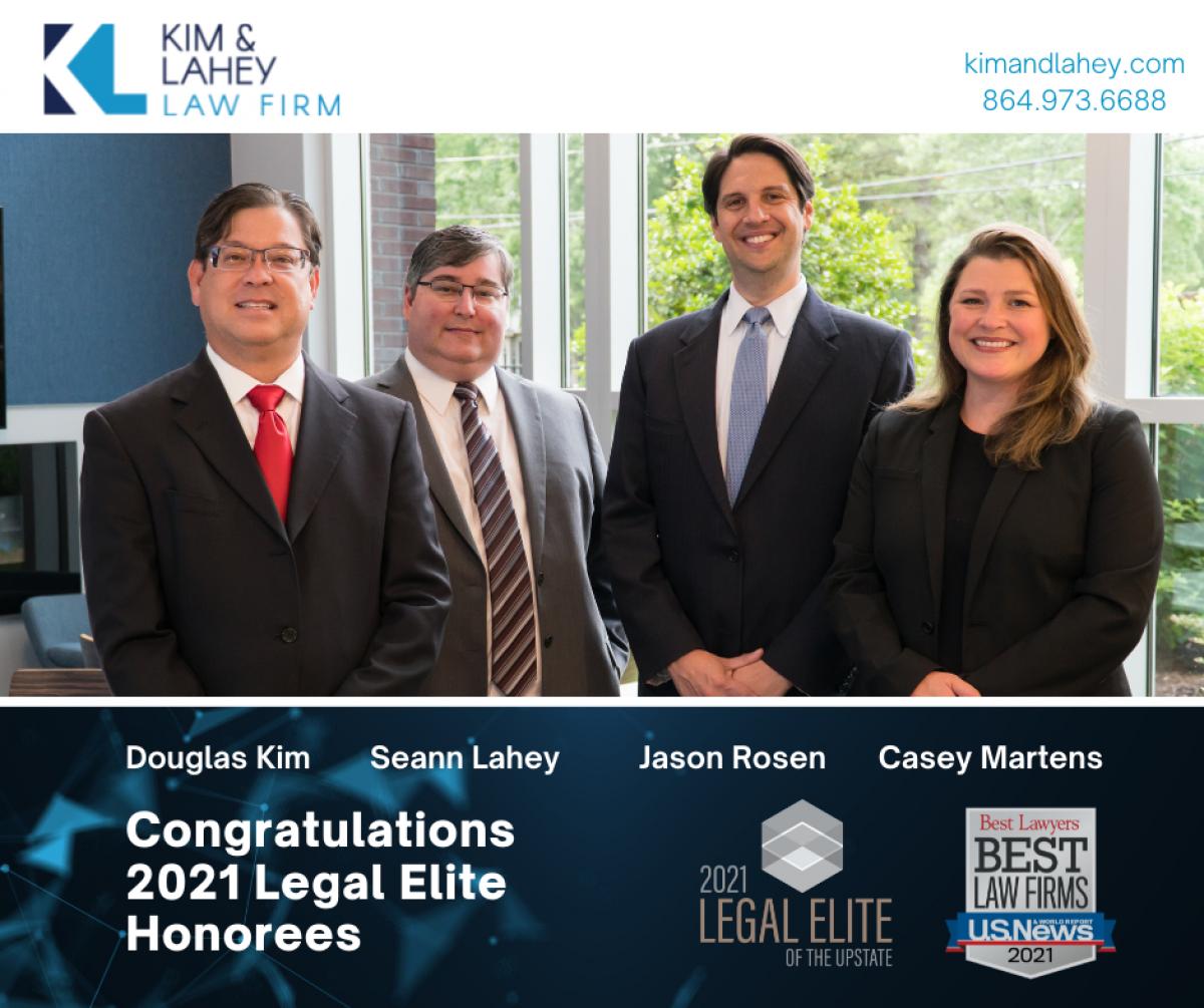 Kim & Lahey Attorneys Honored in 2021 Legal Elite