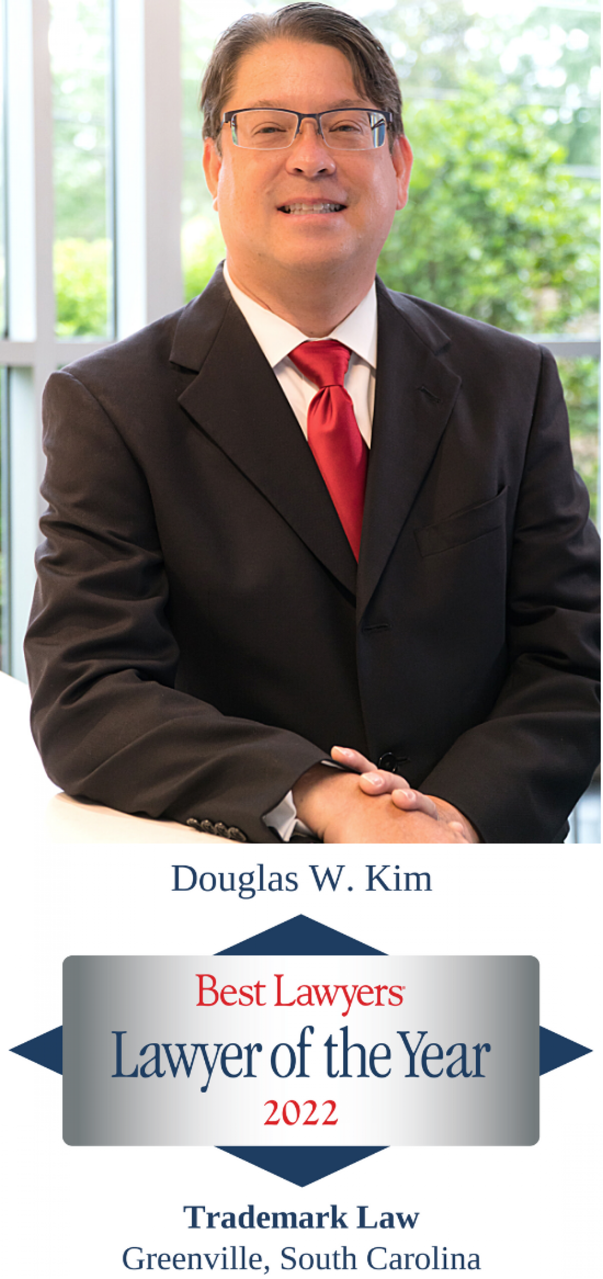 """Doug Kim named Best Lawyers® 2022 Trademark """"Lawyer of The Year"""" in Greenville"""